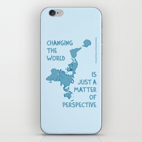 Dymaxion Perspective iPhone & iPod Skin