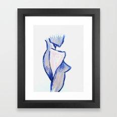 Purple Woman Framed Art Print