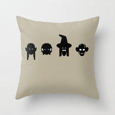 legolas, frodo, gandalf & gollum Throw Pillow