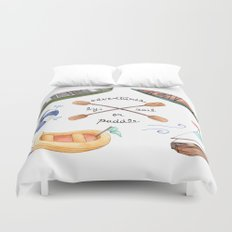 Adventures by Sail or Paddle Duvet Cover