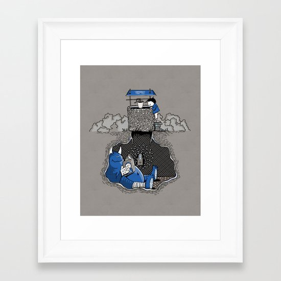 Nightlights and Oven Mitts Framed Art Print