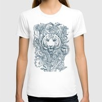 tiger T-shirts featuring Tiger Tangle by micklyn