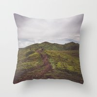 Hiking tales Throw Pillow