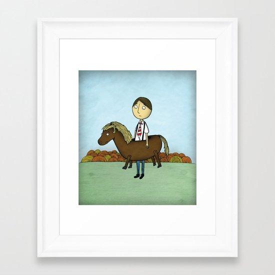Horseback Framed Art Print