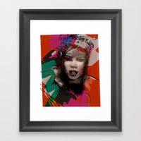 Retro Girl Framed Art Print