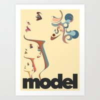 Model 001 Art Print