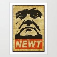 Newt has a posse Art Print