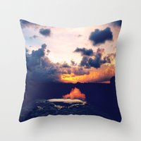 Paradise Sunset Throw Pillow
