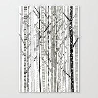 Pattern Trees Canvas Print