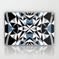 Abstract Kite Black and Blue Laptop & iPad Skin