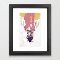 Deer a Framed Art Print