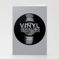 Vinyl Is Killing The MP3… Stationery Cards