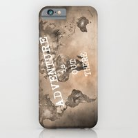 Adventure is out there. Stars world map. Sepia iPhone 6 Slim Case