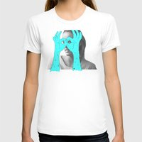 Peak-a-Boo Womens Fitted Tee White SMALL