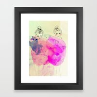 Brr its cold outside Framed Art Print