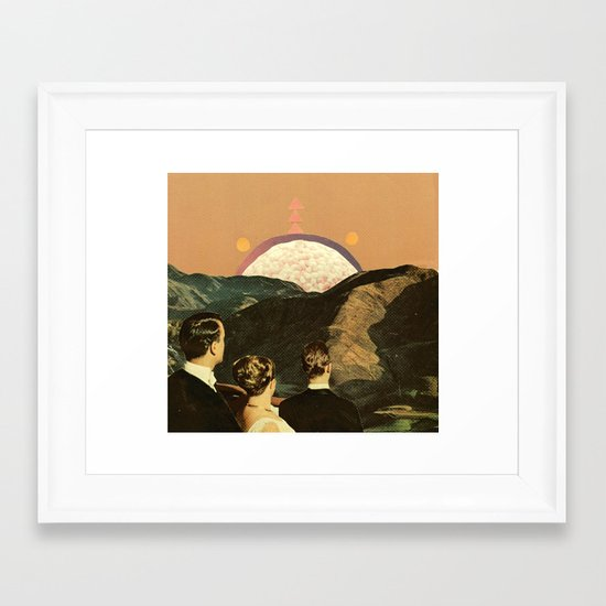 early reports indicate the sightings were faked Framed Art Print