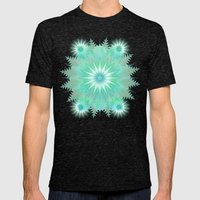 Snowflakes Mens Fitted Tee Tri-Black SMALL