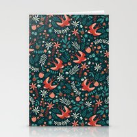 Flying Swallows Stationery Cards