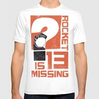 Rocket 13 Is Missing Mens Fitted Tee White SMALL