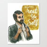 Treat yo self! Canvas Print