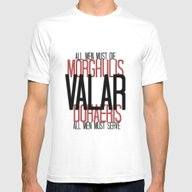 Valar - Game Of Thrones Mens Fitted Tee White SMALL