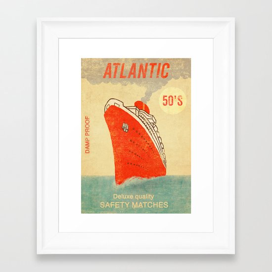 Atlantic Safety Matches  Framed Art Print