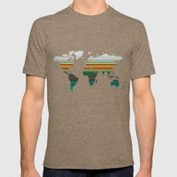 Blues Pop Mens Fitted Tee Tri-Coffee SMALL