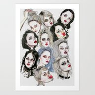 Sky Ferreira Collage Art Print