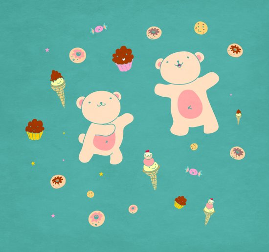 Sweet Bears Art Print