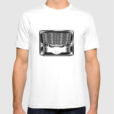 RadioSapo White Mens Fitted Tee SMALL