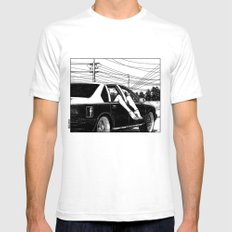 asc 600 - Les lendemains (Tomorrow's Just Another Day) Mens Fitted Tee White SMALL