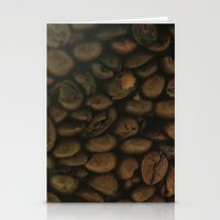 Coffee pattern, fine art photo, Coffeehouse, shops, bar & restaurants, still life, interior design Stationery Cards