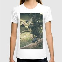 Temporary Happiness part 2 bear Womens Fitted Tee White SMALL