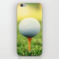 Golf Ball on Tee iPhone & iPod Skin