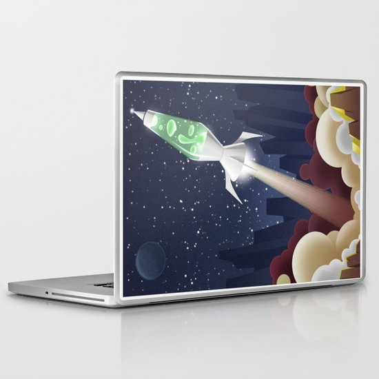Way Out-ta Space!!!! Laptop & iPad Skin