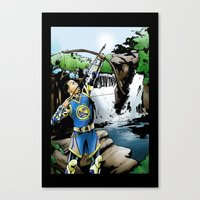 Steph Curry And The Art … Canvas Print