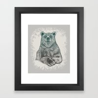 Bear Portrait Framed Art Print