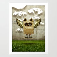 Fly try Art Print