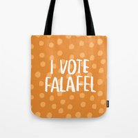 I Vote Falafel Tote Bag