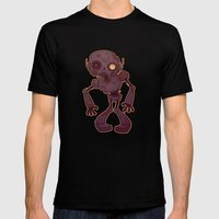Rusty Zombie Robot Mens Fitted Tee Black SMALL