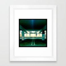 Empty parking lot. Framed Art Print