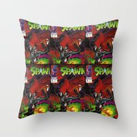 Spawn 1 cover Throw Pillow
