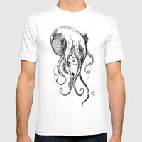 Octogirl Mens Fitted Tee White SMALL