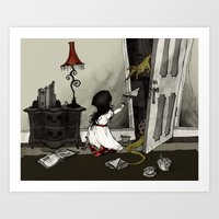 Monster In The Closet Art Print