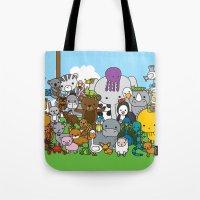 Zoe animals Tote Bag