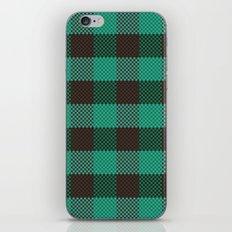 Pixel Plaid - Glacier Melt iPhone & iPod Skin