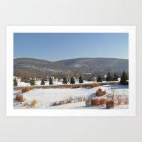 Winter Snow Scene Landsc… Art Print
