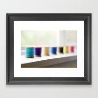 reel colour Framed Art Print