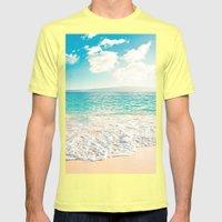 Big Beach Mens Fitted Tee Lemon SMALL