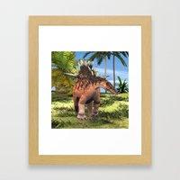 Dinosaur Kentrosaurus Framed Art Print